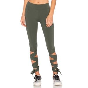 Free People Movement Motion Legging Green Tie Wrap
